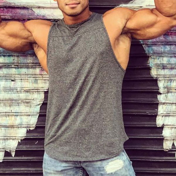 Men's Tank Top Bodybuilding Gyms Stringer Sport Fitness Sleeveless Vest Fitness Singlet Shirt Male Clothing Undershirt