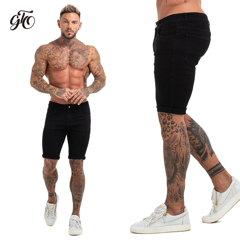 Mens Shorts Fitness Denim Shorts Black High Waist Ripped Summer Summer Jeans Shorts For Men Plus Size Casual Streetwear