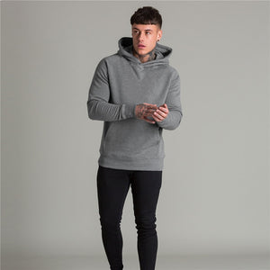 Mens Fashion Sweatshirts And Stylish Hoodies Sudaderas Hombre Fitness Black Cloak Hooded Male Casual Jacket