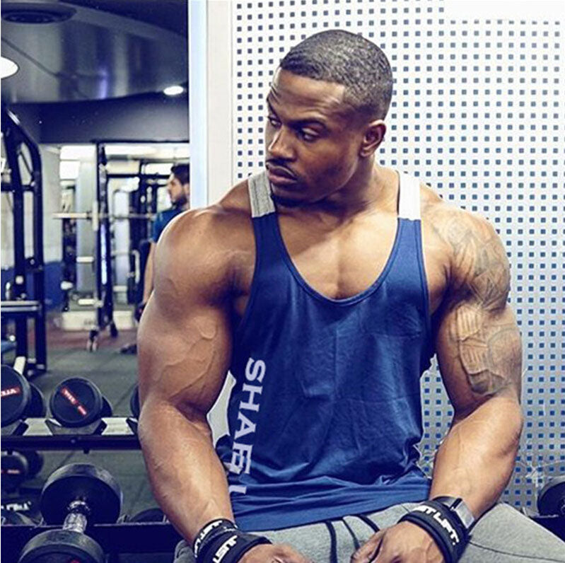 Gym Men Bodybuilding Tank Top Muscle Stringer Athletic Fittness Shirt Clothes Men Cotton Hot Top Clothing Summer