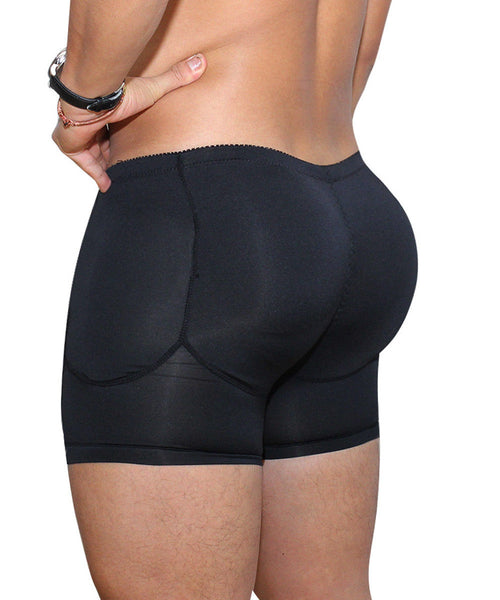 Mens Butt and Hip Enhancer Booty Padded Underwear Panties Body Shaper Seamless Butt Lifter Panty Boyshorts Shapewear Boxers
