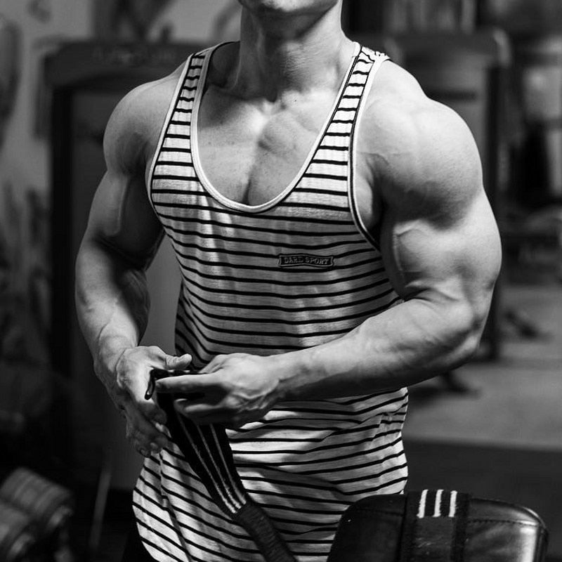 Men Tank top Gyms Workout Fitness Bodybuilding sleeveless shirt Male Cotton clothing Casual Singlet vest Undershirt