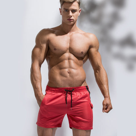 Sexy Swimwear Men Swimming Shorts For Men Swimming Trunks Quick Dry Beach Surf Boxer Shorts Bathing Suit Pocket Swimsuit