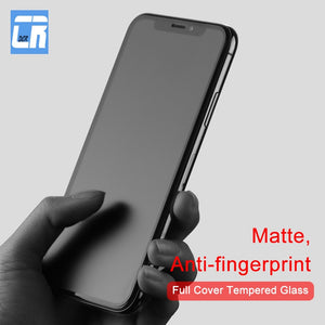 No Fingerprint Full Cover Matte Tempered Glass for iPhone X 8 7 6S Plus Screen Protector Frosted Glass for iPhone XS MAX XR Film