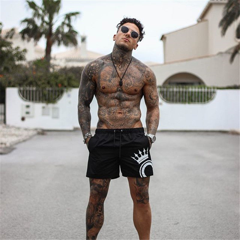 Mens Men's Slim Fit Short Trousers Fitness Bodybuilding Jogger Men Shorts Durable Sweatpants Fitness Workout Cotton Shorts