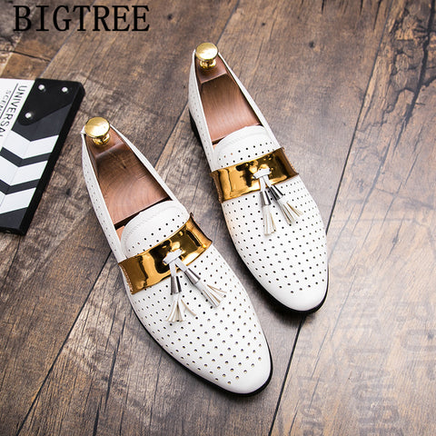 leather dress loafers men shoes tassel zapatos de hombre de vestir formal shoes men oxford shoes for men coiffeur herren schuhe