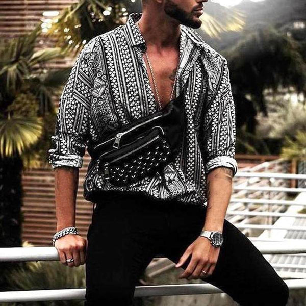 Chic Miamie Vacation Beach Men Tops Men Shirt Dress Social Long Sleeve Fashion Clothes Women Tee Tops Camisa Blouse Chemise