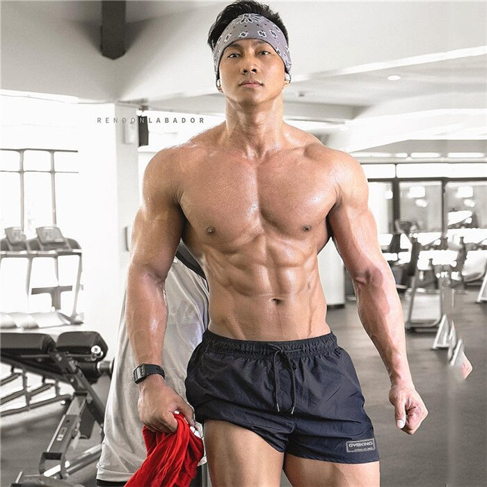 Mens shorts New Casual Fashion Gyms Fitness Bodybuilding short pants Male Jogger Knee Length Drawstring Sweatpants
