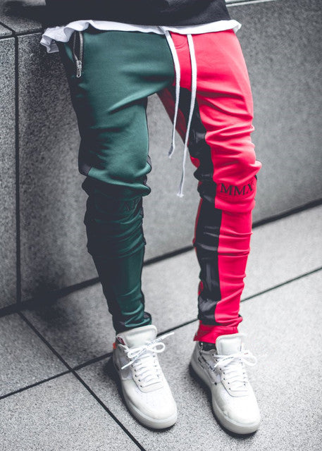 Summer Brand Gym Sport Pants Men Jogger Patchwork Fitness Bodybuilding Mens Running Pants Runners Clothing Sweatpants