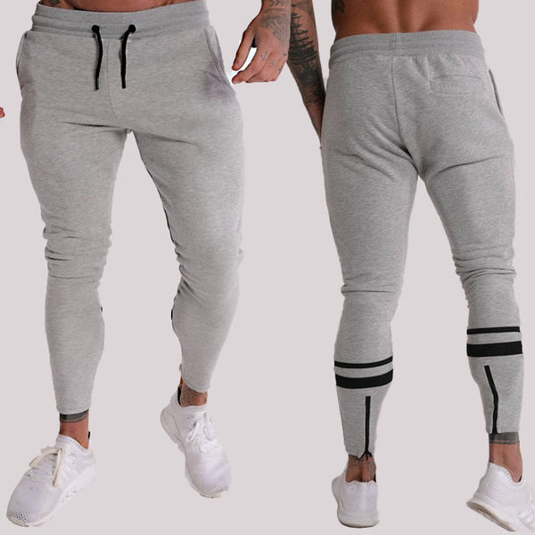 Streetwear casual men's cotton men's fashion sportswear men's jogger gyms fitness gray trousers bodybuilding men's clothing