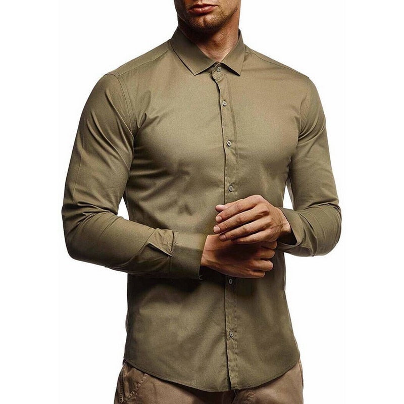 Mens shirts Camisa Masculina Long Sleeve Shirt Men Korean Slim Fit Design Formal Casual Male Dress Shirt