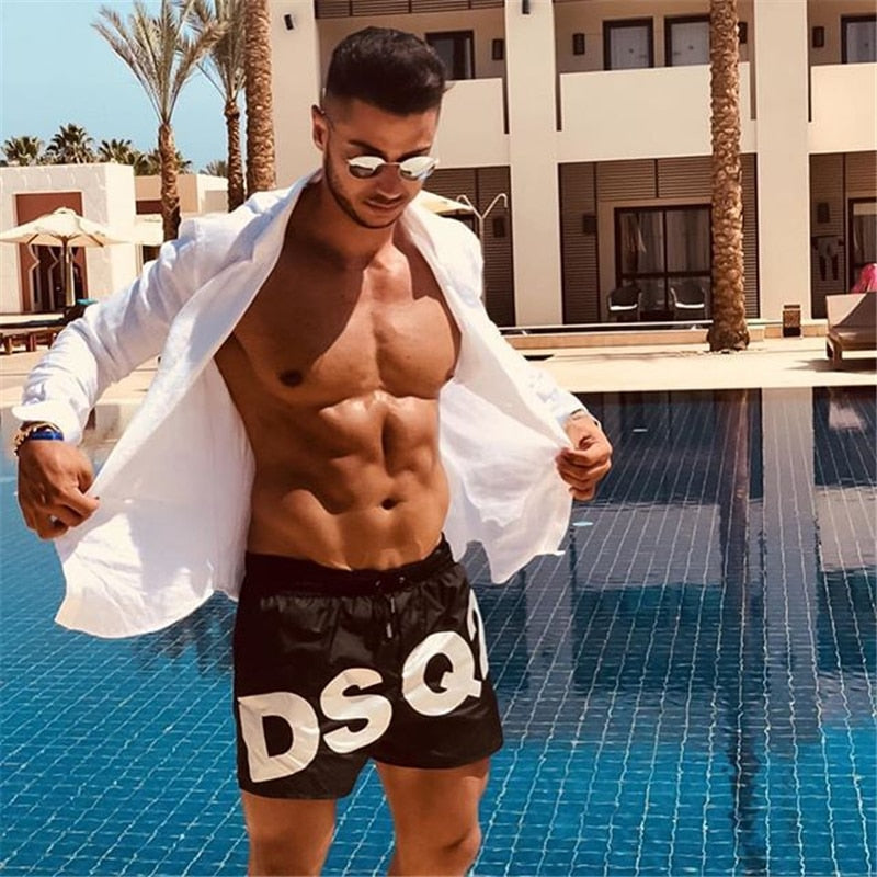 Mens Shorts Summer Casual Beach Shorts Men Gyms Sporting Bodybuiding Short Pants Dry Fit Shorts Fitness Clothing