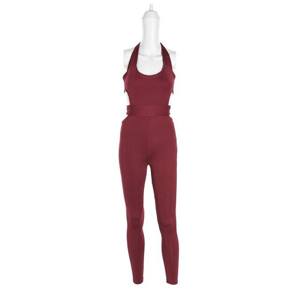 Spring New Women Jumpsuit Evening Overall Clubwear Party Pants Romper Casual Sleeveless Skinny Trousers Playsuit