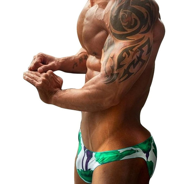 Mens Bikini Briefs Fashion Print Mens Underwear Briefs Summer Swimming Trunk For Men All Size Underwear Men