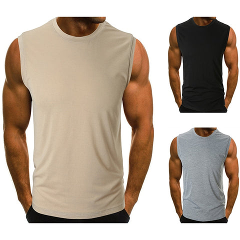 Men Tank Top New Brand Chase Deer Cotton High Quality Undershirt Bodybuilding Singlet Fitness Sleeveless Vest Men Tank Tops