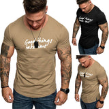 Male's clothing Men Summer Slim Fit Short Sleeve Number Printed O-Neck T-shirt Tops Abbigliamento moda maschile