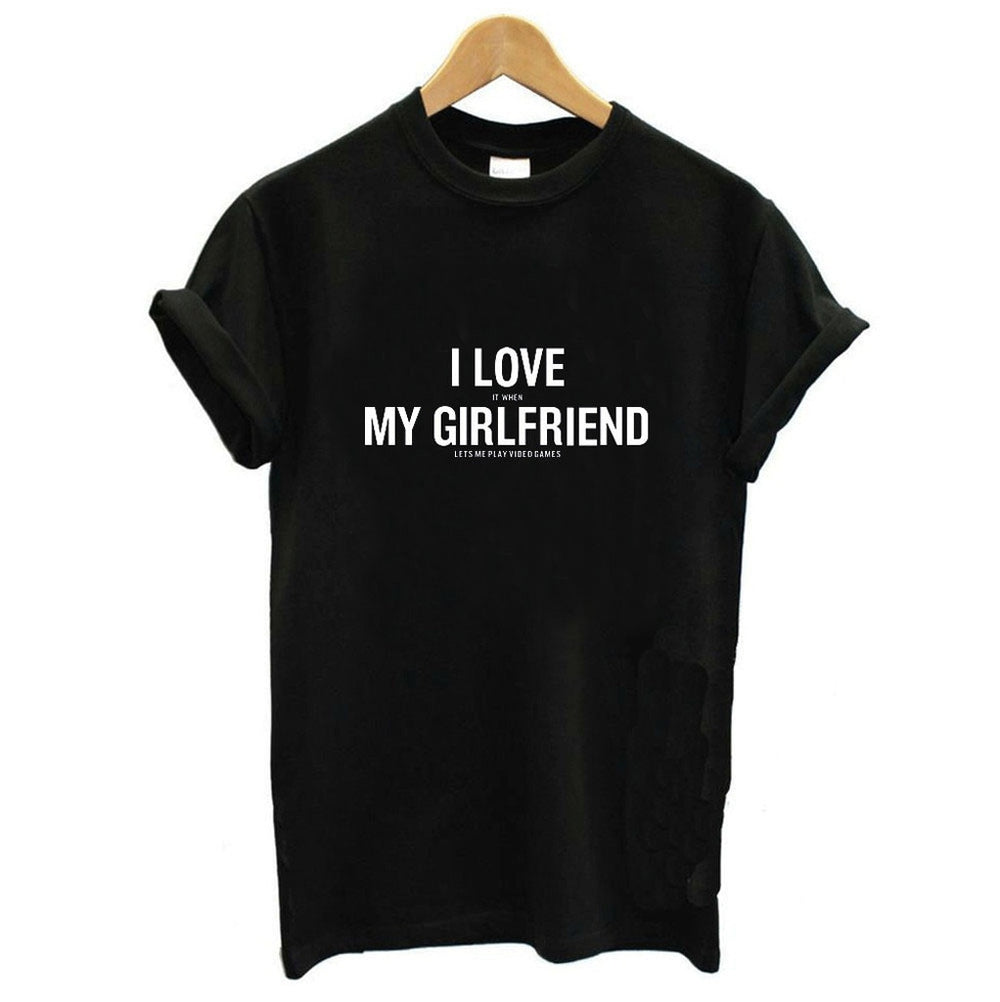 Male's Top Men Summer Fashion Wold Printing Casual Show Your Love Shirt Top Hansome Boy Leisure S-4XL Hauts pour hommes