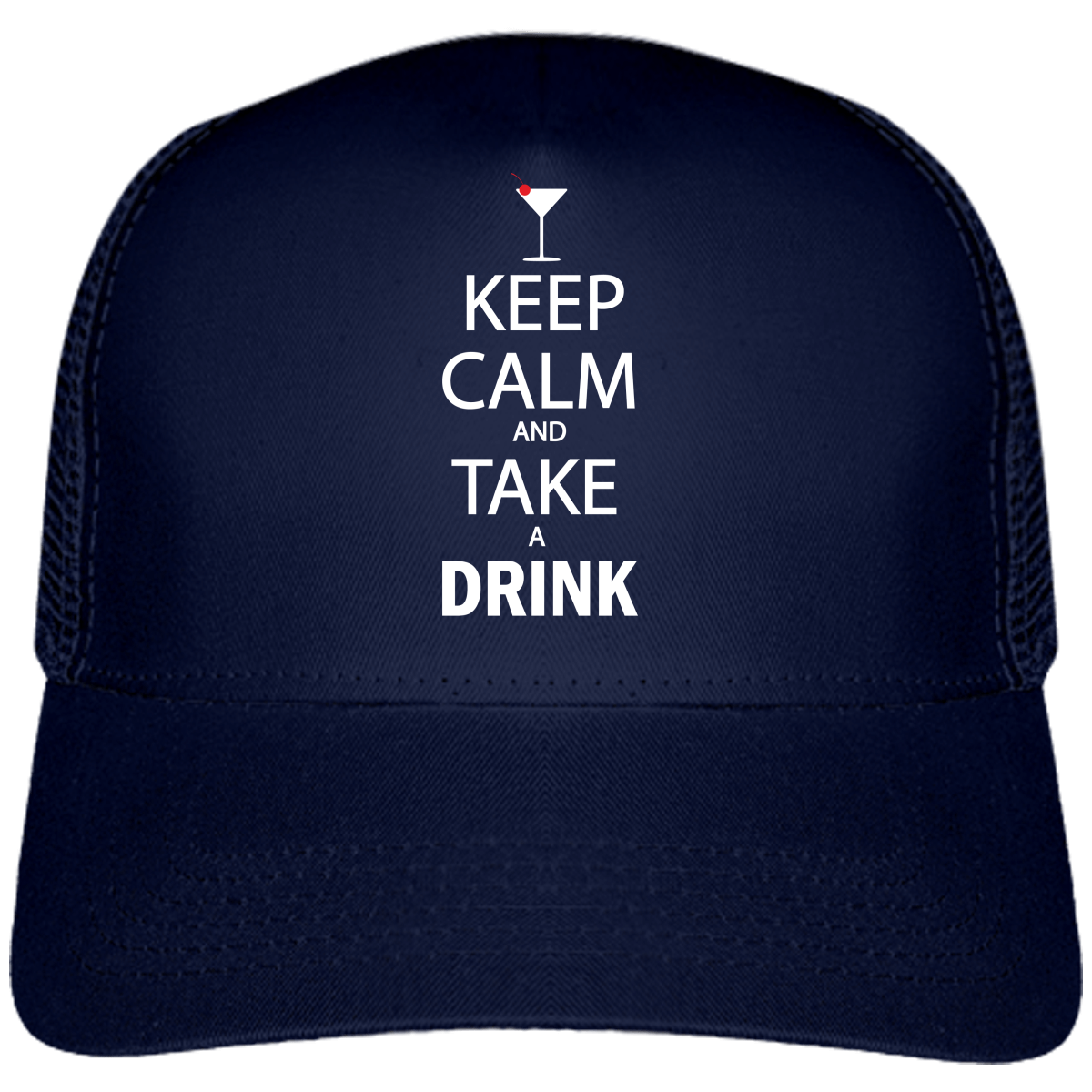 "Casquette ""Keep calm and take a drink""-Passion Bouffe"