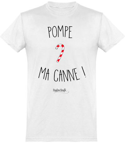"T-shirt Col rond ""Pompe ma canne""-Passion Bouffe"
