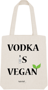 "Tote Bag ""Vodka is vegan""-Passion Bouffe"