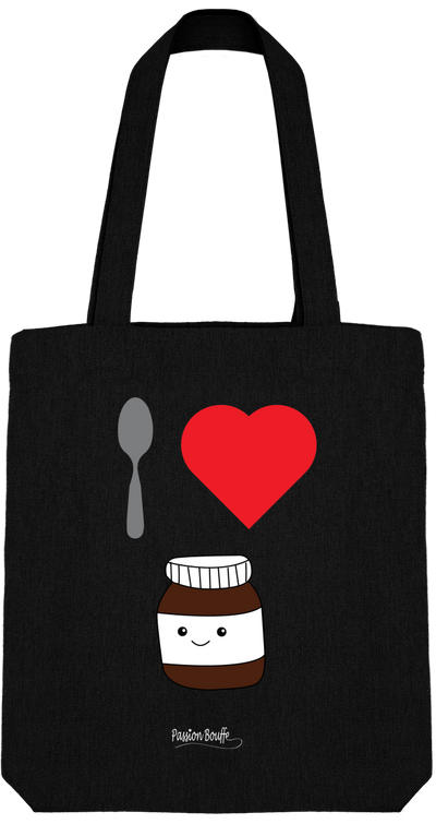 "Tote Bag ""I love Nutella""-Passion Bouffe"