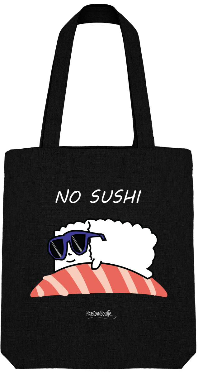 "Tote Bag ""No Sushis""-Passion Bouffe"