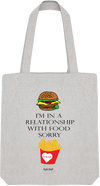 "Tote Bag ""I'm in relationship with food sorry !""-Passion Bouffe"