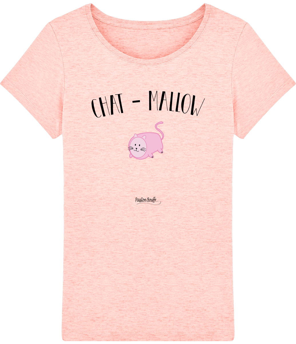 "T-shirt Femme ""Chat Mallow""-Passion Bouffe"