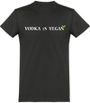 "T-shirt Homme ""Vodka is Vegan""-Passion Bouffe"