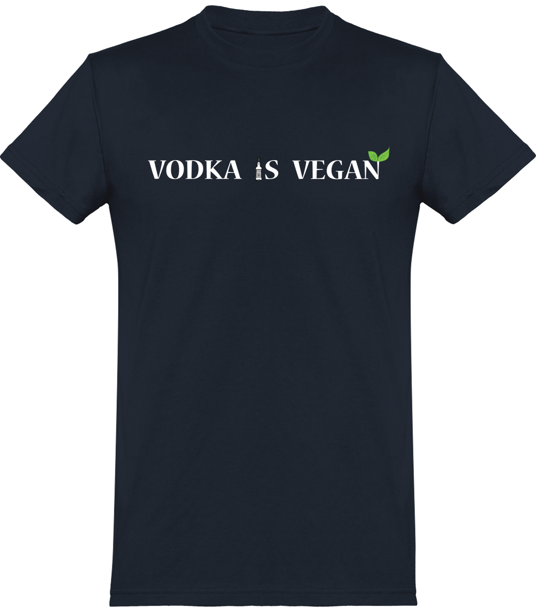 "T-shirt Homme ""Vodka is Vegan"""