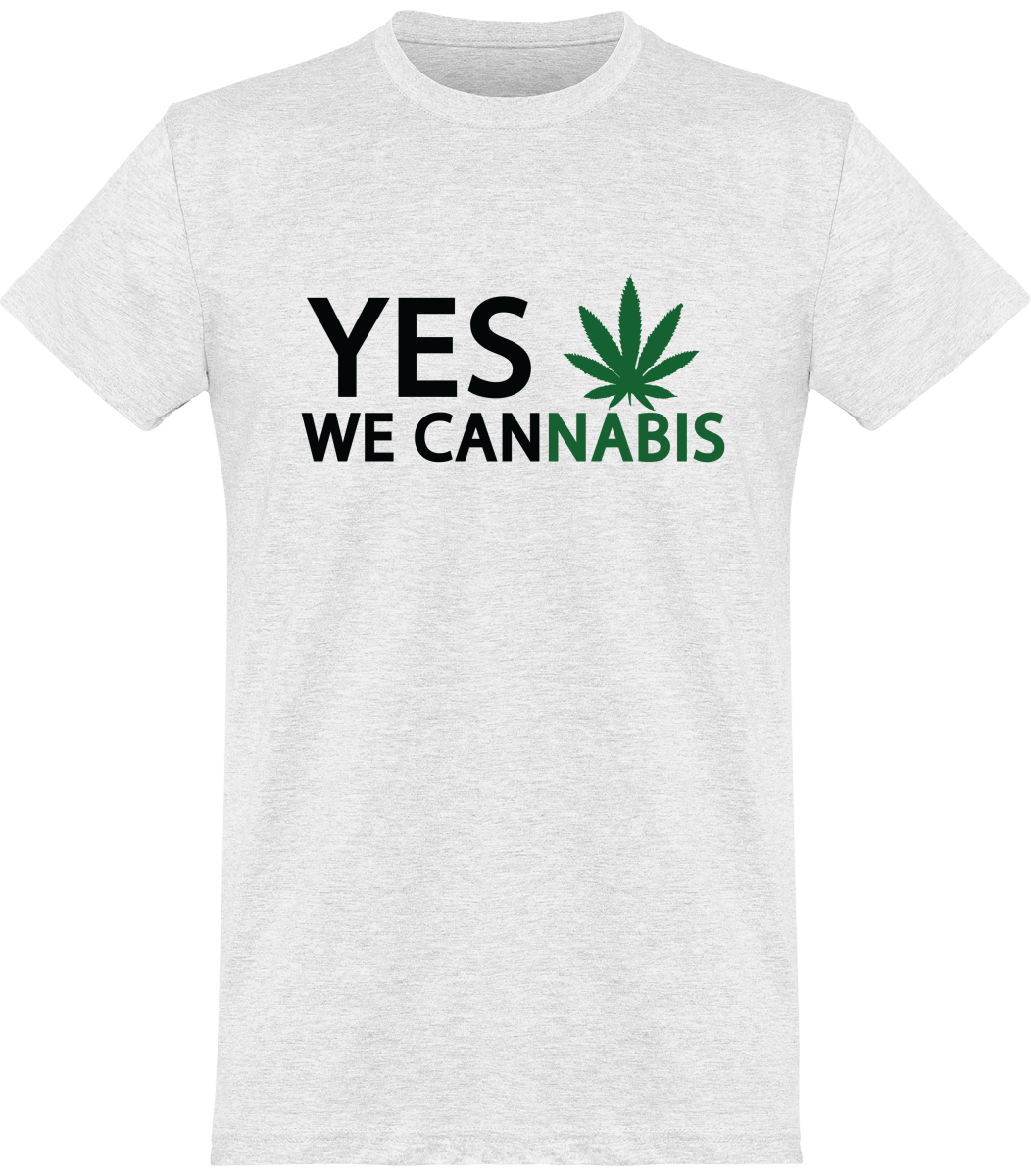 "T-Shirt Homme ""YES WE CANNABIS"""