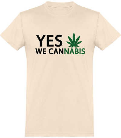 "T-Shirt Homme ""YES WE CANNABIS""-Passion Bouffe"