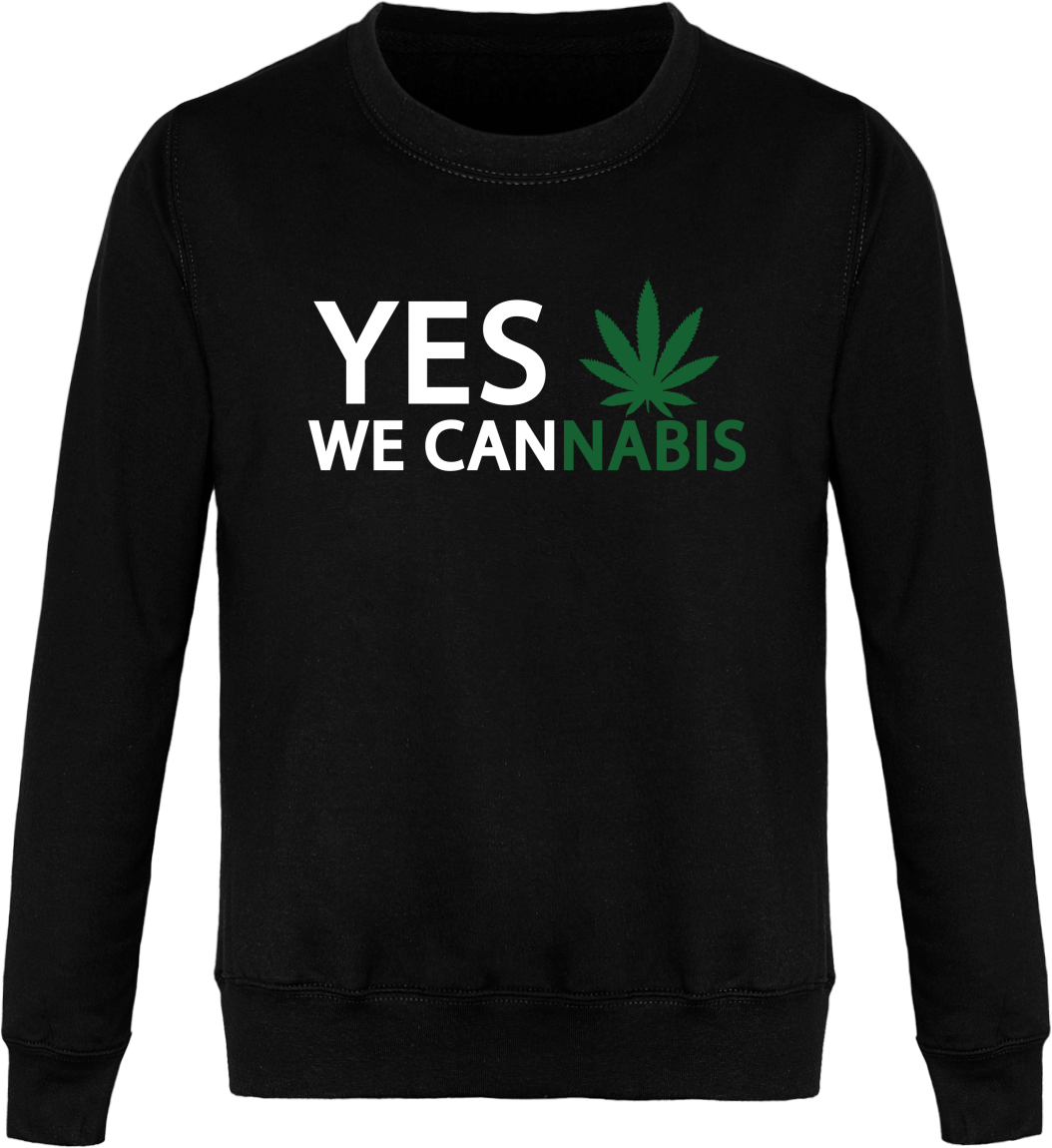 "Sweat ""YES  WE CANNABIS"""
