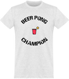 "Tee Shirt Homme ""Beer Pong Champion""-Passion Bouffe"