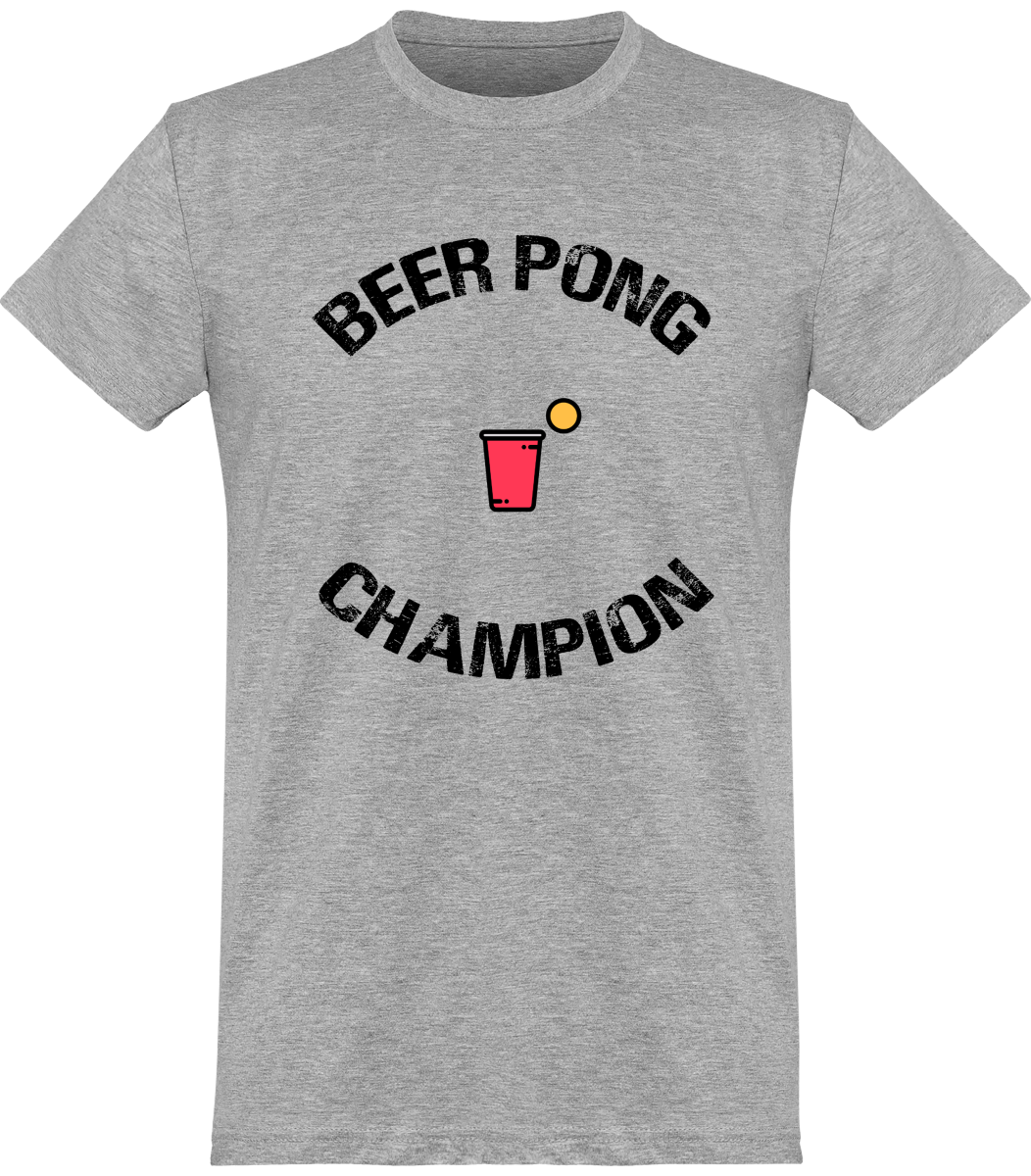 "Tee Shirt Homme ""Beer Pong Champion"""