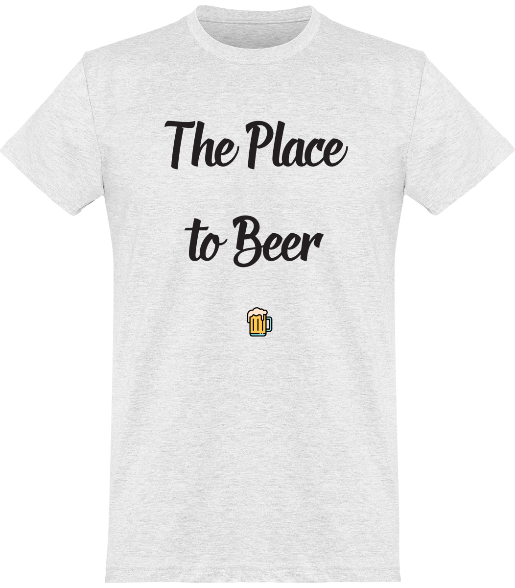 "Tee Shirt Homme ""The place to beer"""
