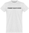 "Tee Shirt Homme ""Plus fort que mes excuses""-Passion Bouffe"