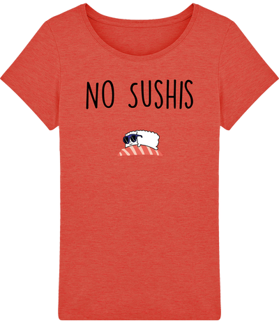 "T-shirt Femme ""No Sushis""-Passion Bouffe"