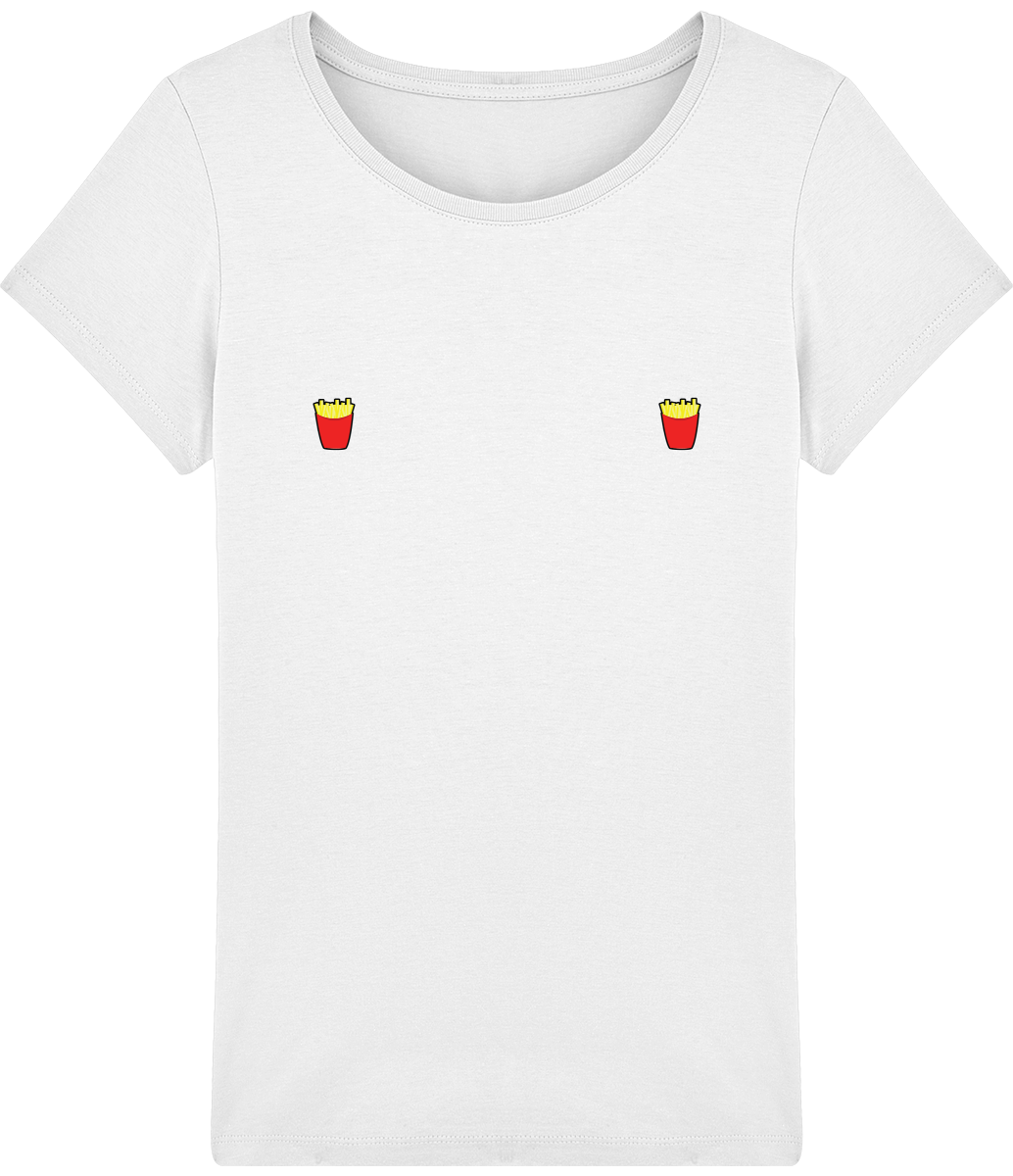 "T-shirt Femme ""Frites""-Passion Bouffe"