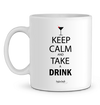 "Mug en Céramique ""Keep calm and take a drink""-Passion Bouffe"