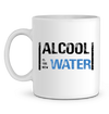 "Mug en Céramique ""Alcool is the new water""-Passion Bouffe"