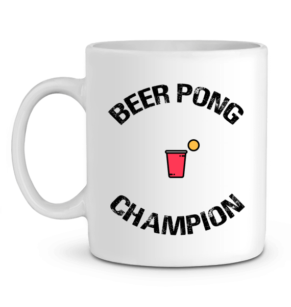 "Mug en Céramique ""Beer Pong Champion"""