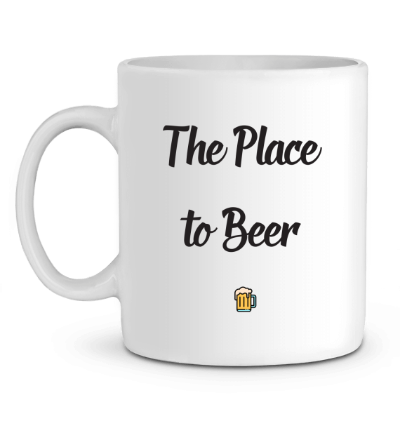 "Mug en Céramique ""The place to beer""-Passion Bouffe"