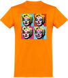"T-SHIRT HOMME ""HALLOWEEN MARILYN""-Orange-XS-T shirt drôle Passion Bouffe"