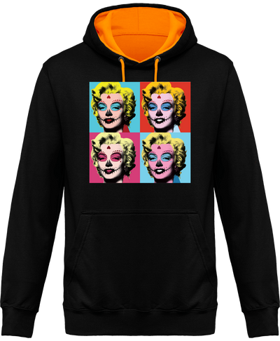 "SWEAT À CAPUCHE UNISEXE ""HALLOWEEN MARILYN"""