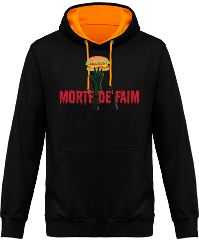 "SWEAT À CAPUCHE ""MORTE DE FAIM"""
