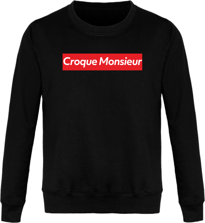 "Sweat ""Croque monsieur"" Col Rond Unisexe"