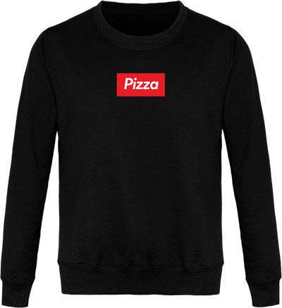 "Sweat ""Pizza"" Col Rond Unisexe"
