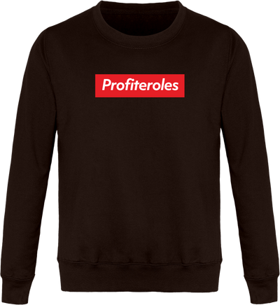 "Sweat ""Profiteroles"" Col Rond Unisexe"