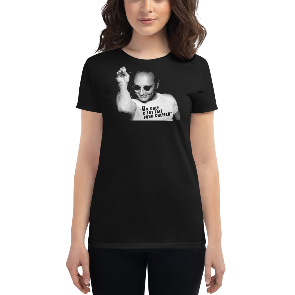 "T-shirt ""Jacques Chirac Cheffer"" Femme col rond"